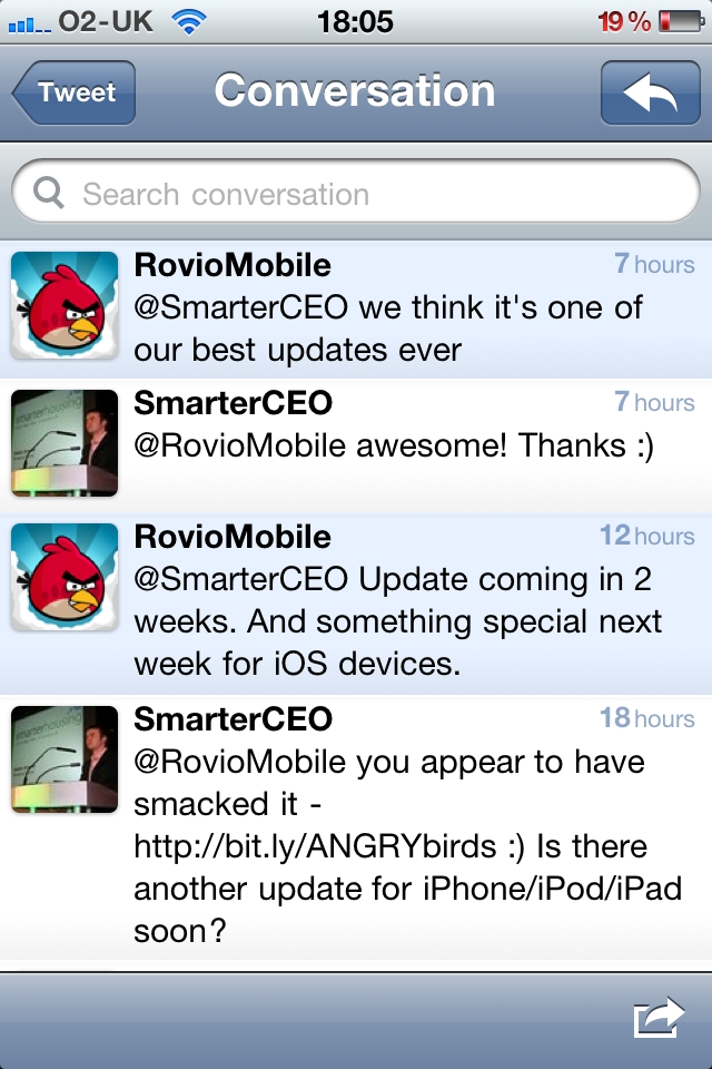 Angry Birds update in the pipeline
