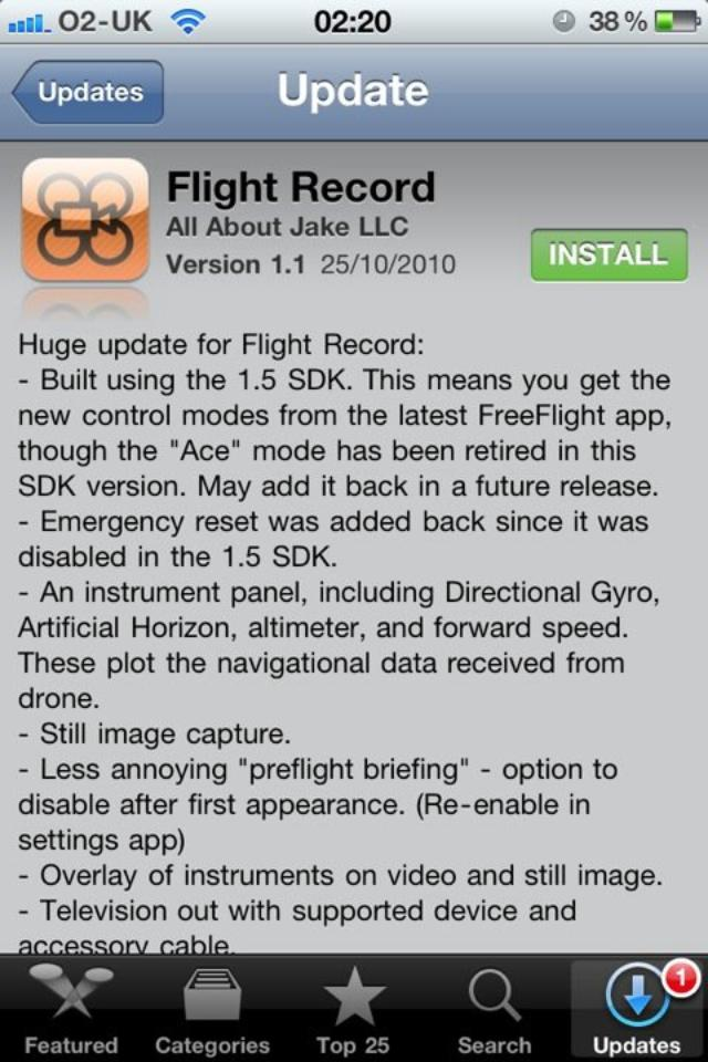 AR FlightRecord ver 1.1 now available