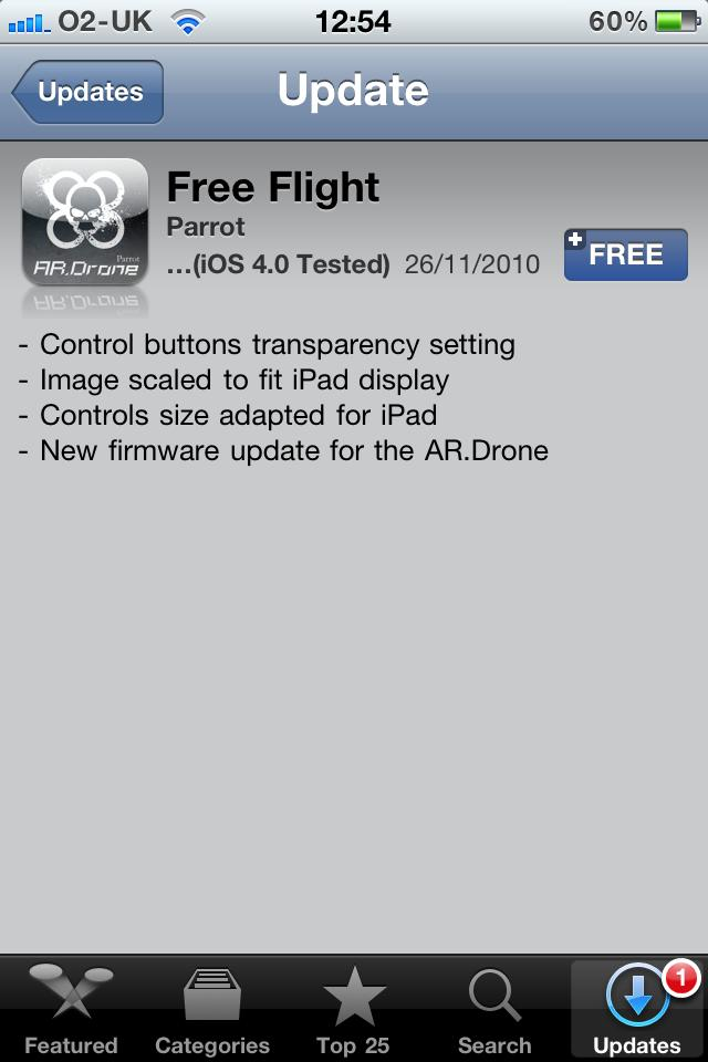 AR Free Flight updated