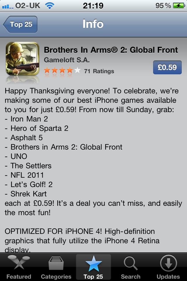 Brothers in Arms 2 on sale