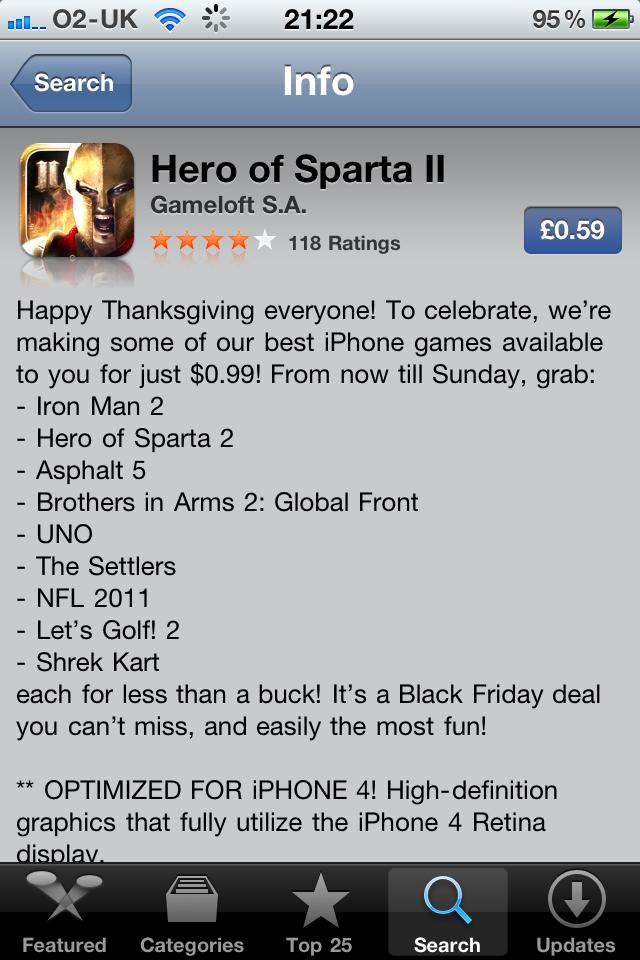 Hero of Sparta II on sale