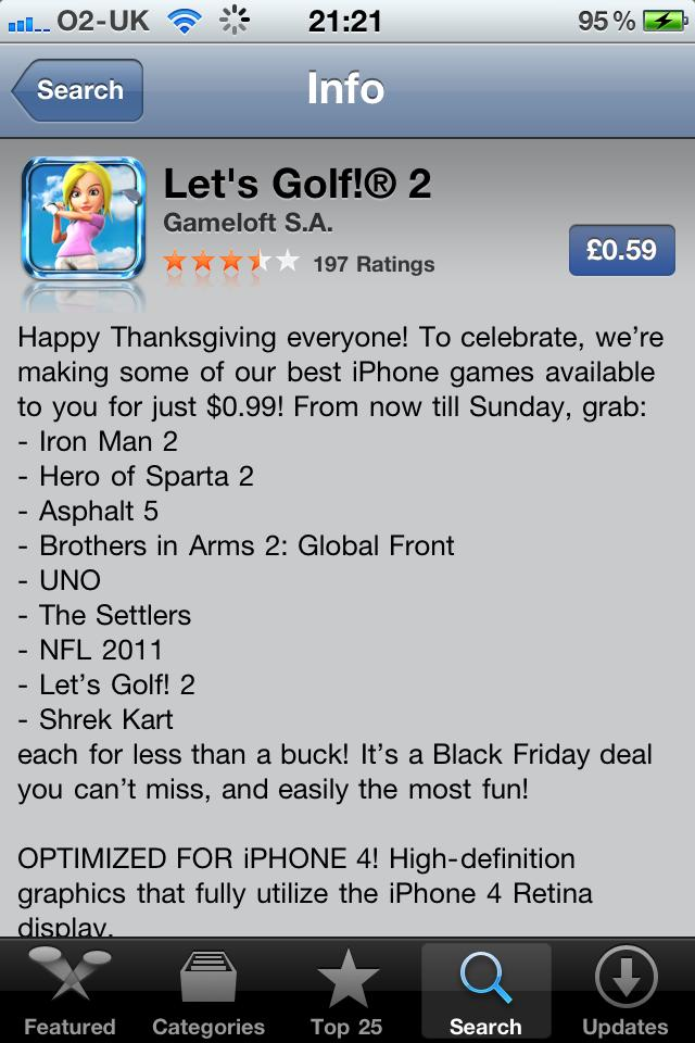 Let's Golf 2 on sale