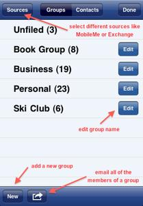 Speed Names - group messaging feature