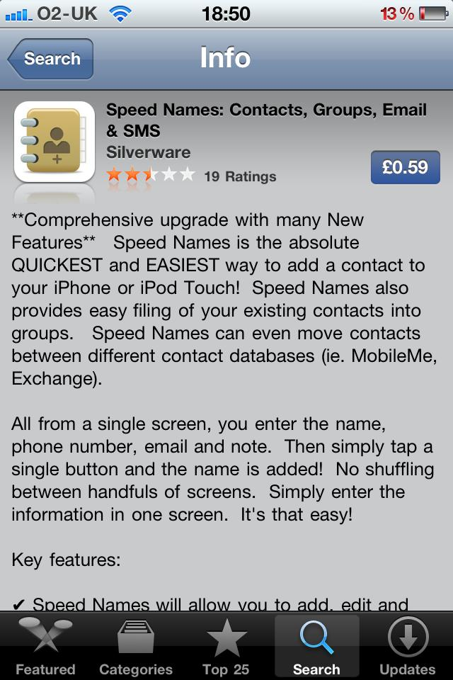 Speed Names - iPhone & iPad group management