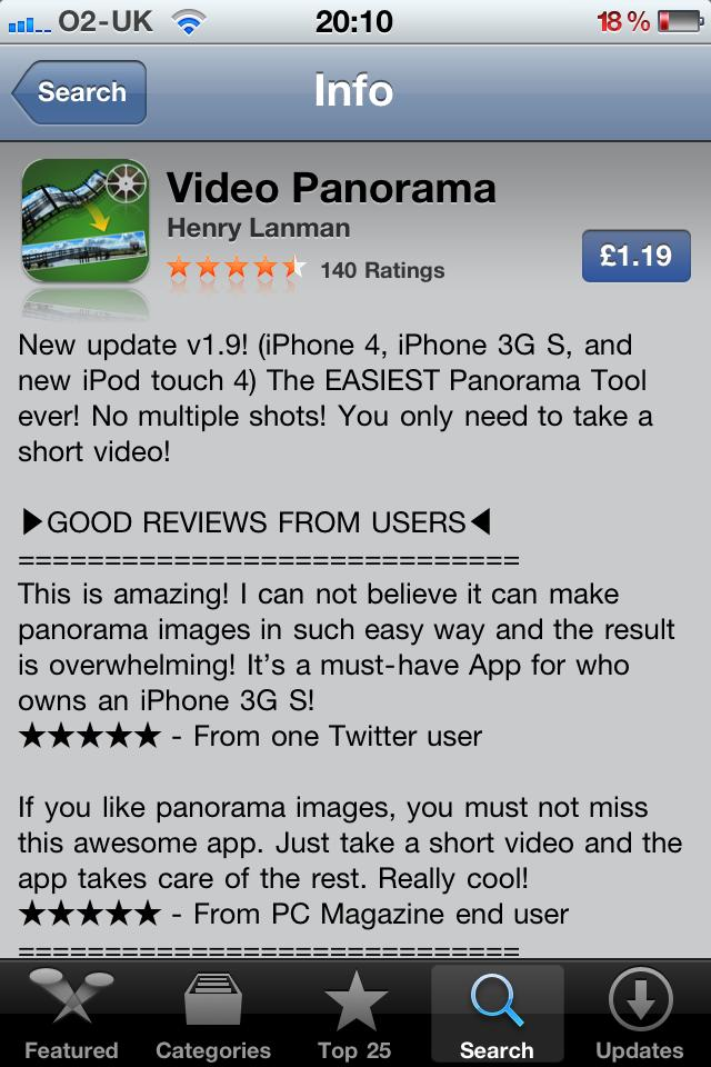 Video Panorama for iPhone & iPod Touch