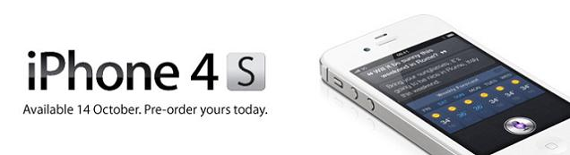 Pre-Orders for the iPhone 4S on O2, Orange, Vodafone and Three