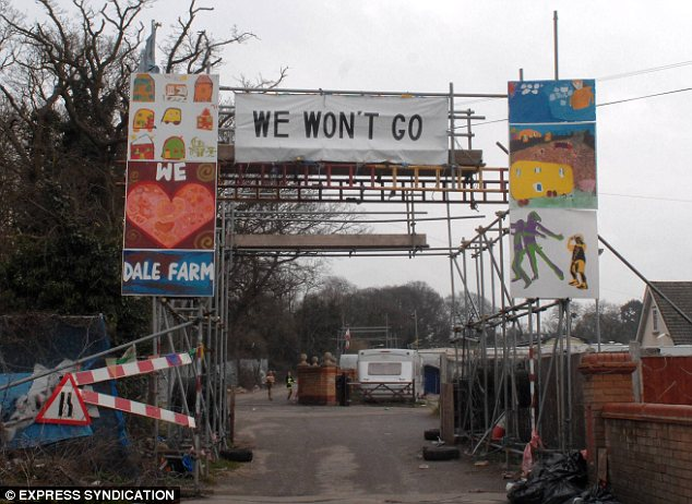 Dale Farm - currently the largest Irish Traveller site in the UK