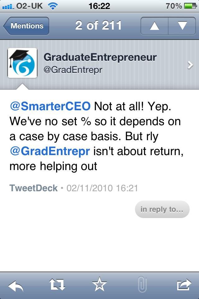 Graduate Entrepreneur on Twitter