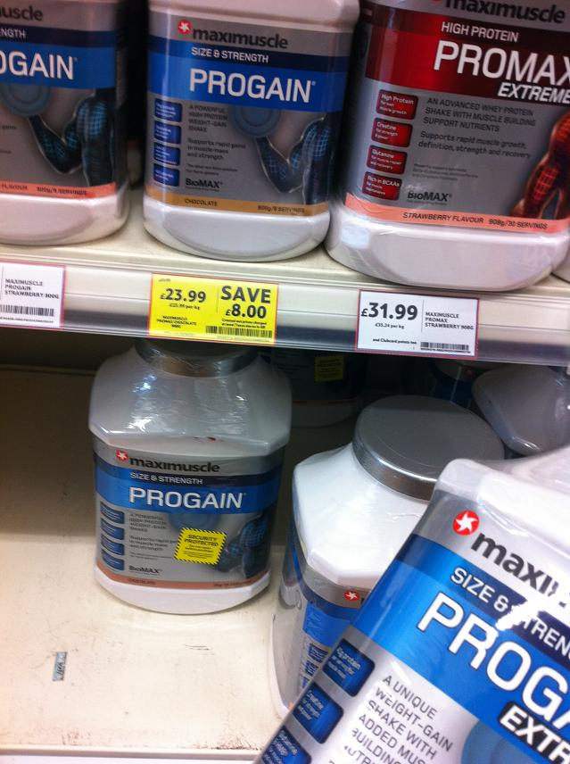 Maximuscle PROGAIN (size & strength) + Maximuscle PROMAX (high protein)