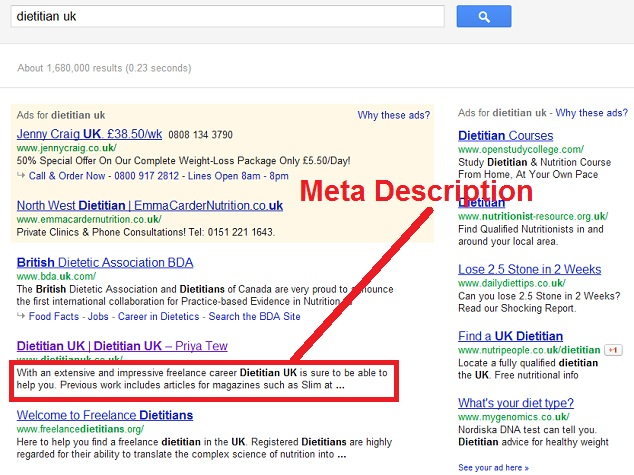 The role of Meta Descriptions in SERPs