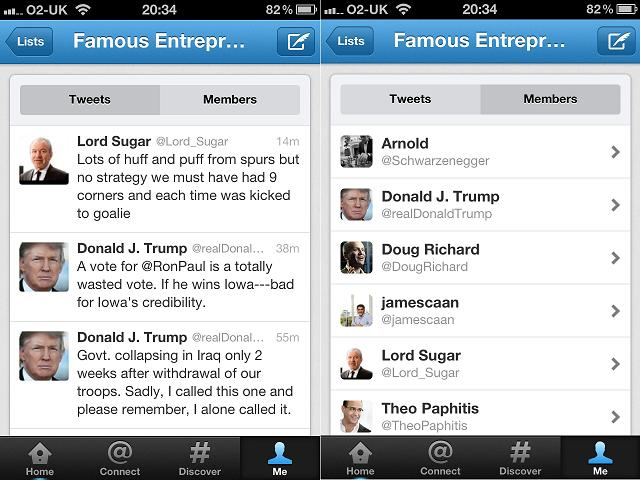 Managing lists in the new new Twitter (image 2)