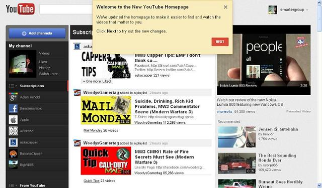 Activating the new YouTube - step 3