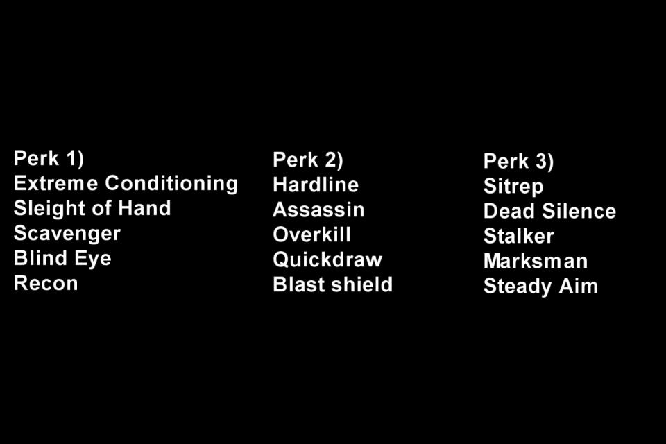 Call of Duty: Modern Warfare 3 - perk analysis