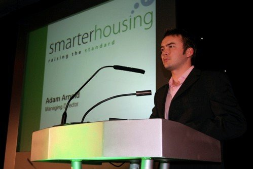 Adam Arnold Smarter Group CEO speaking at the 2005 New Venture Fest