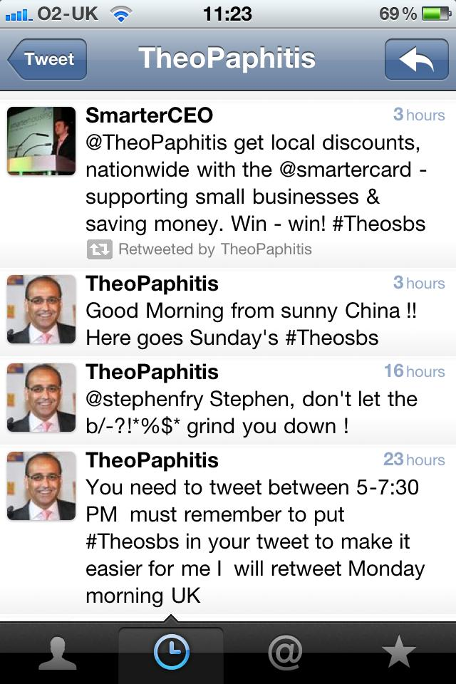 Theo Paphitis #TheoSBS on Twitter